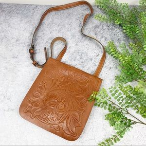 Patricia Nash Granada Leather Embossed Crossbody